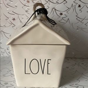Rae Dunn LOVE Canister / Cookie Jar House